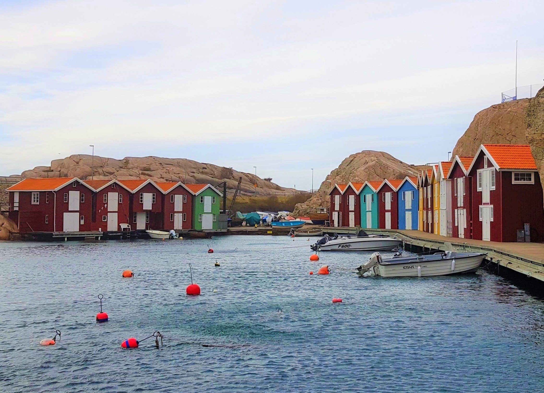 Casitas de colores en Smögen, Suecia.