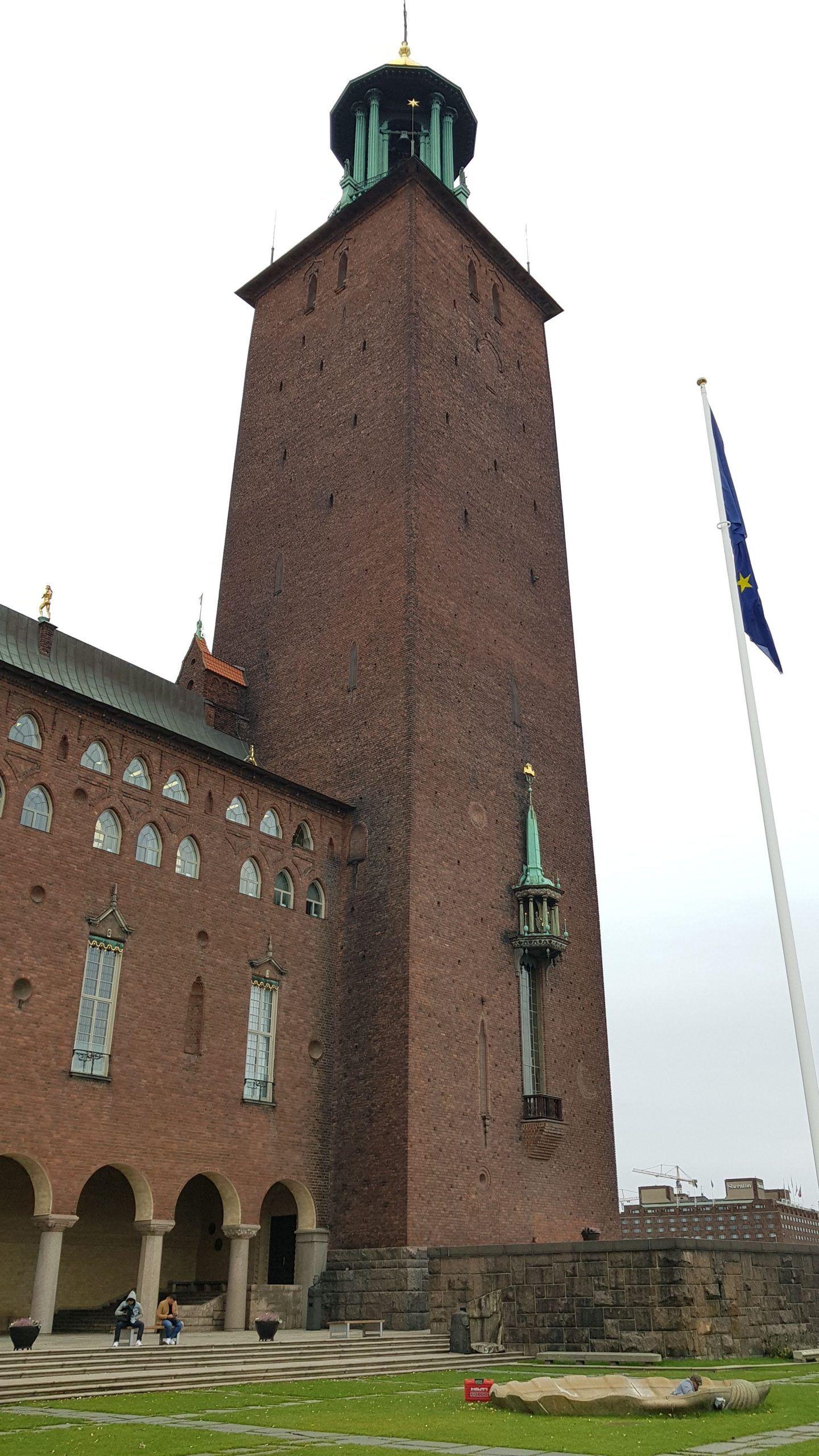 Torre del City Hall de Estocolmo, isla de Kungsholmen.