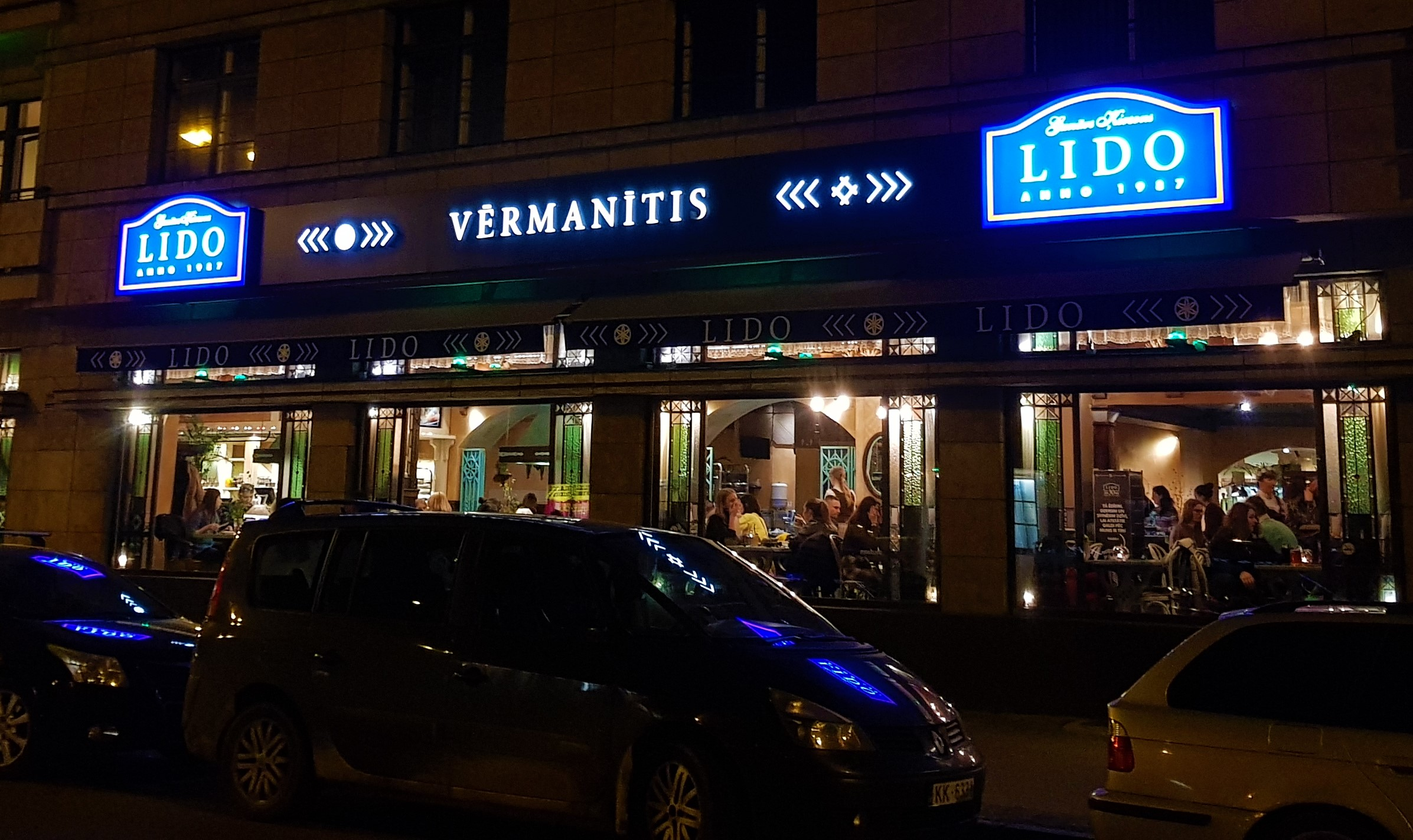 Exterior del restaurante Lido Vermanitis