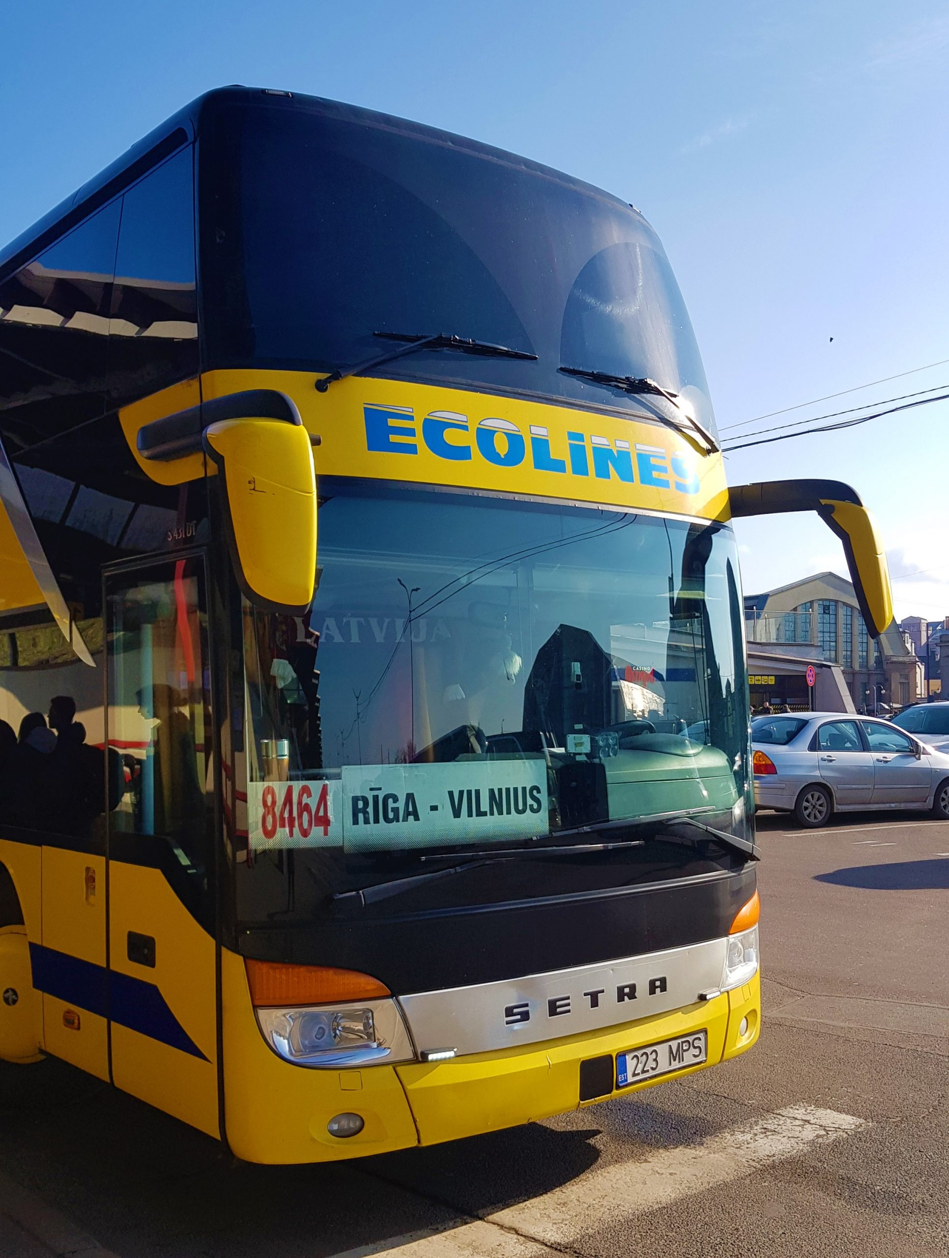 Bus Ecolines Riga-Vilna