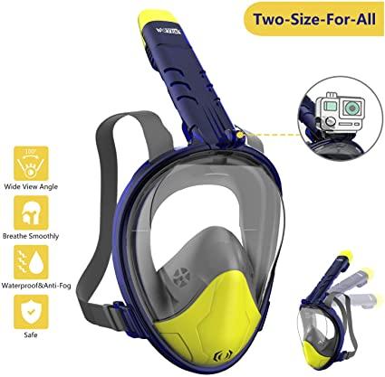Vista de la máscara de snorkel panorámica