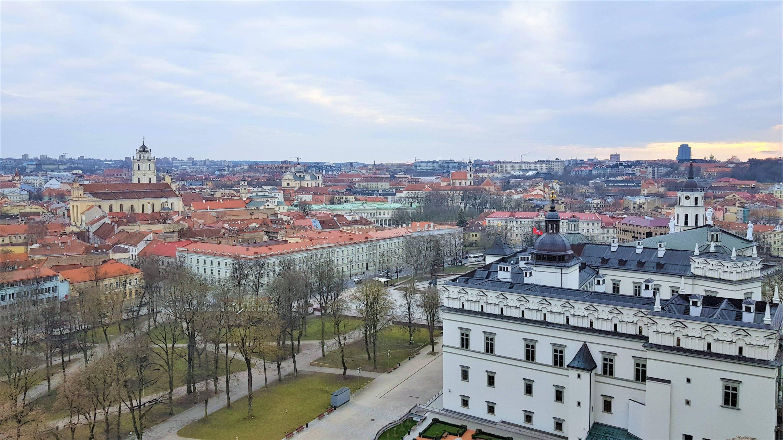 Vistas de Vilna antigua desde la torre de Gediminas