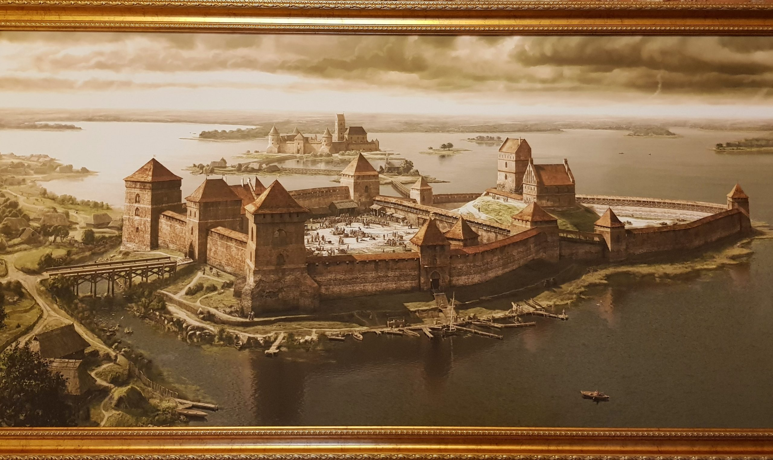Cuadro de recreación de la fortaleza de Trakai