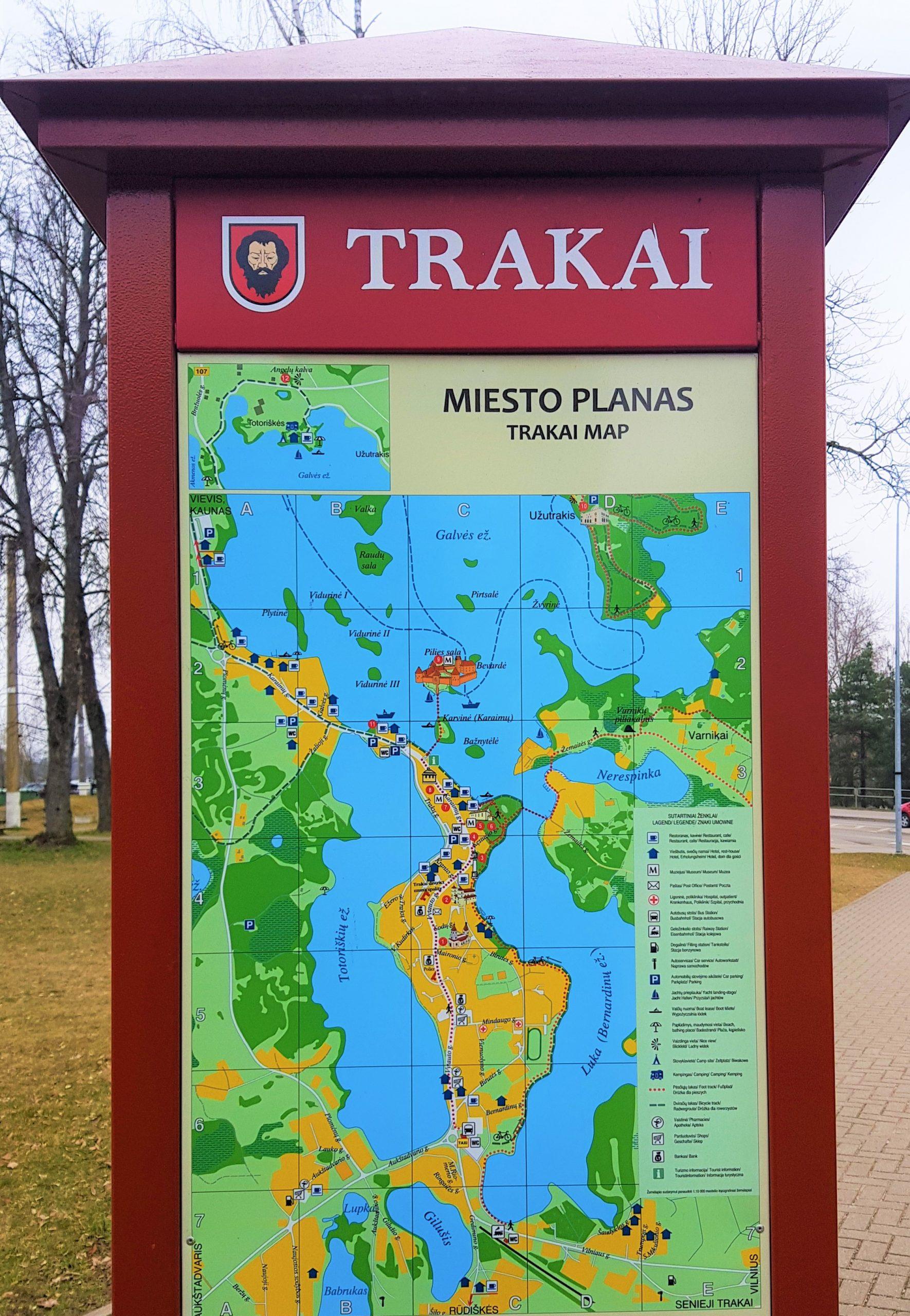 Mapa de la escapada al castillo de trakai