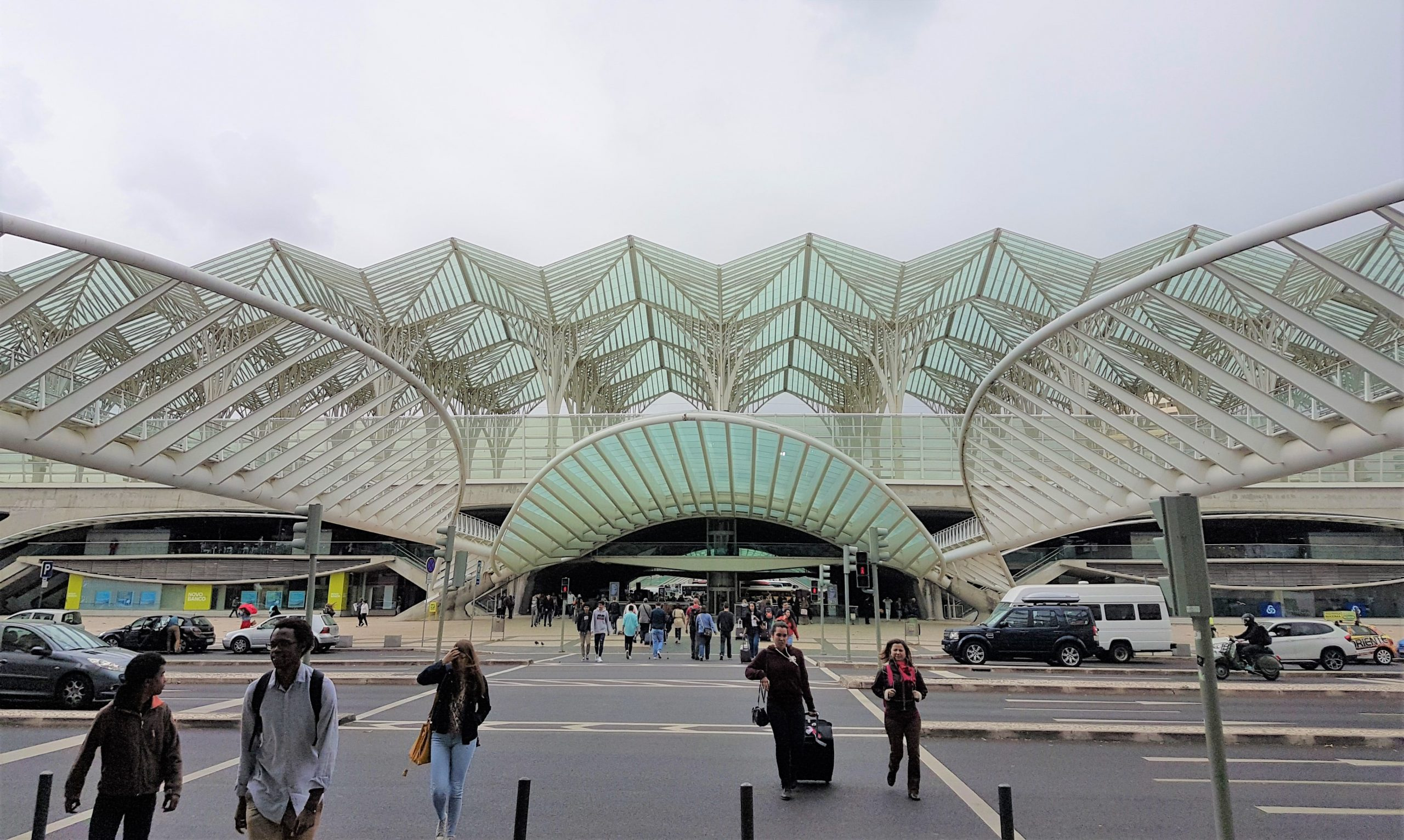Entrada a la estación de Oriente de Lisboa