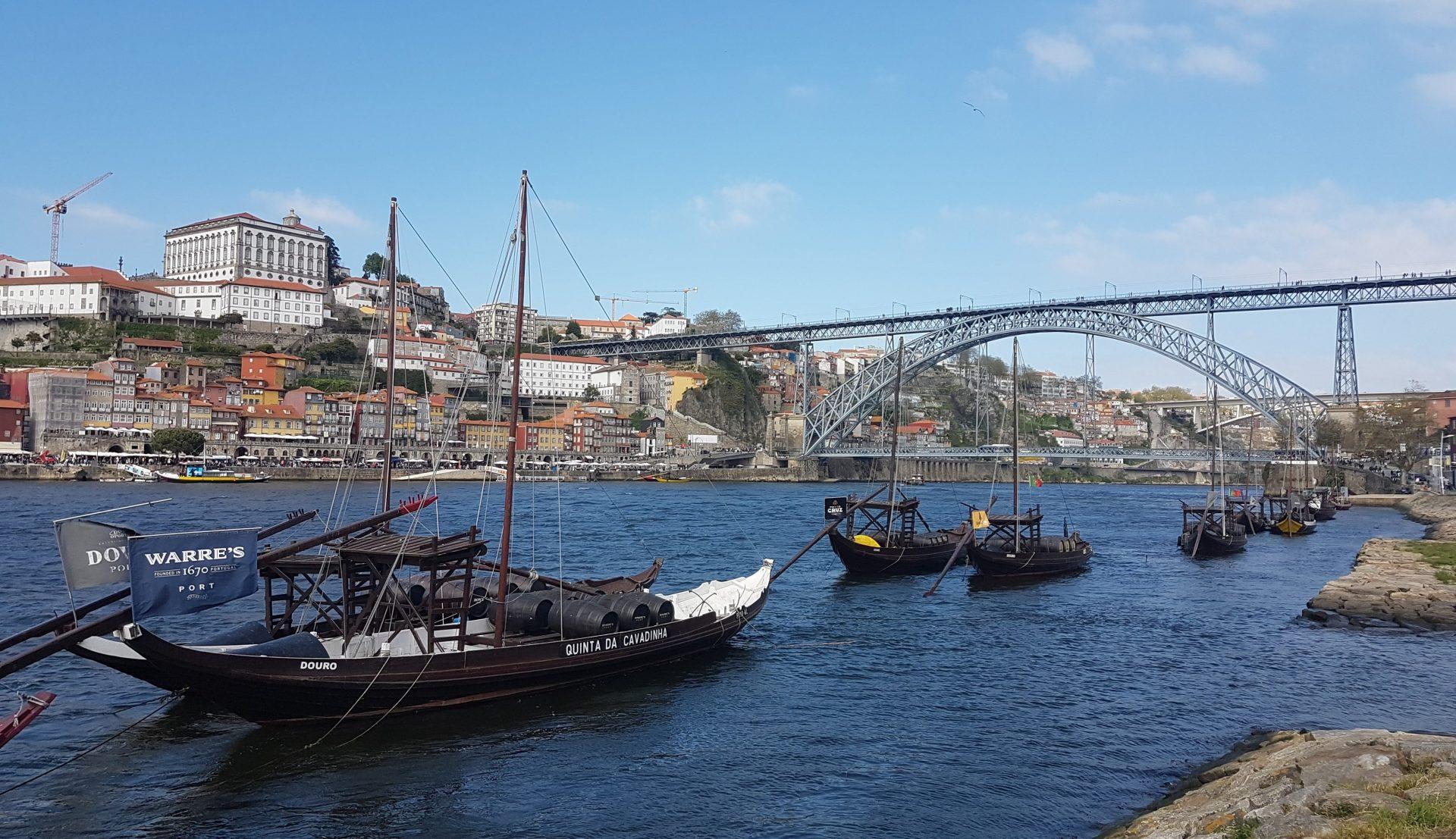 Vistas del rio Duero y del puente de Don Luis I