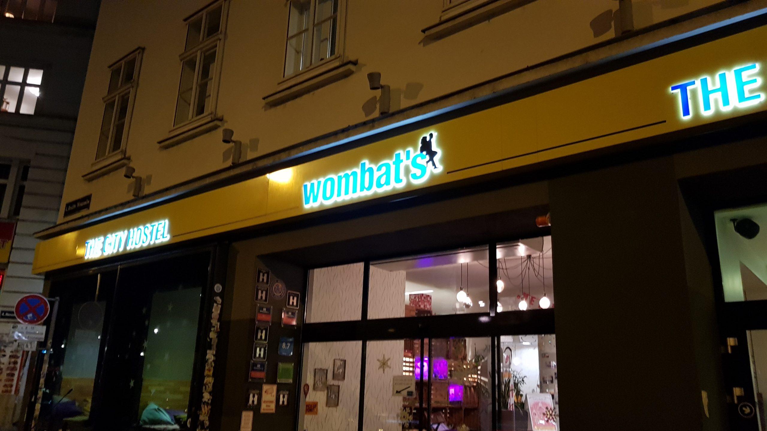 Fachada de hostel Wombat's de Viena