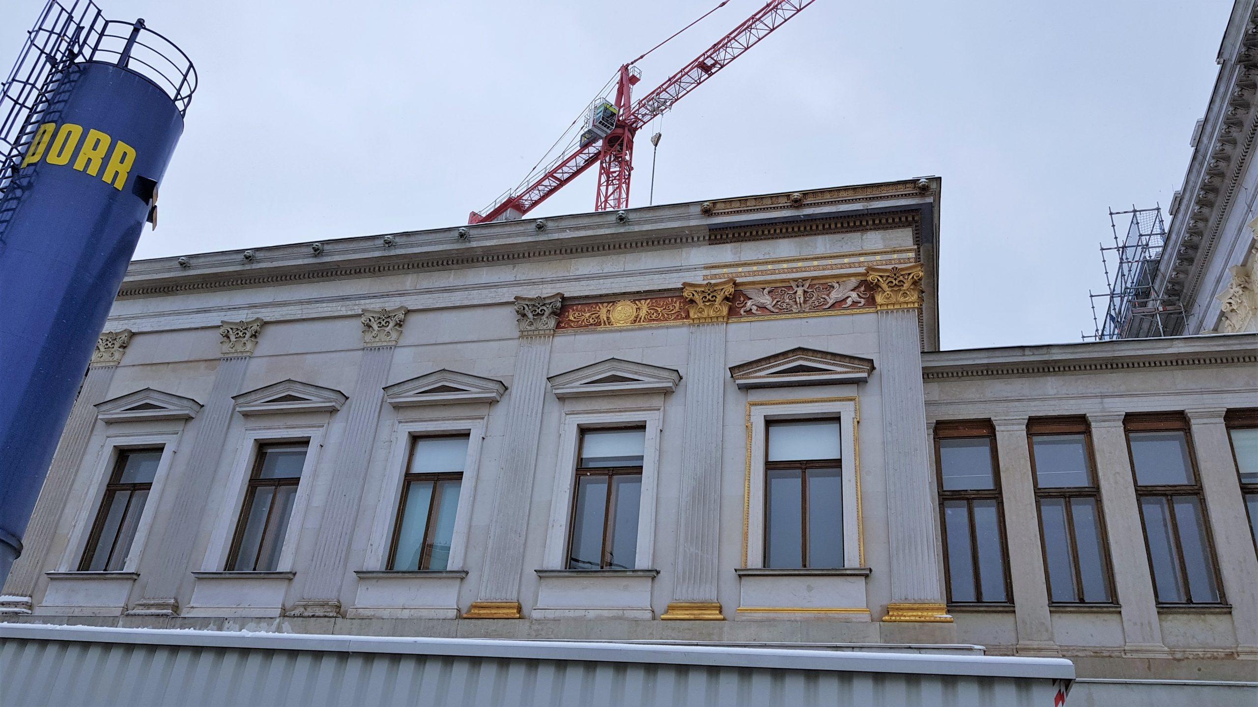 Fachada del parlamento de Viena