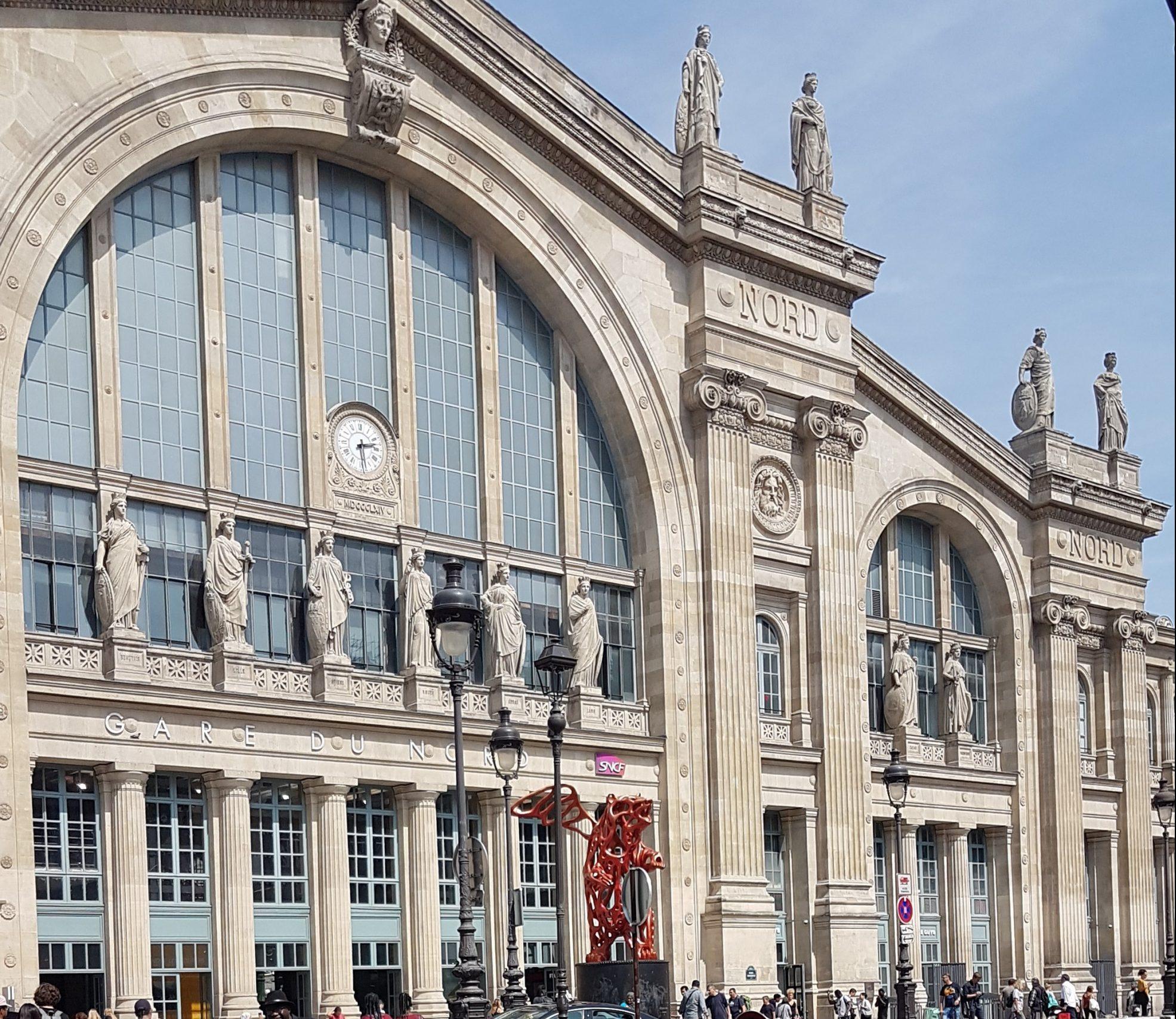 Fachada exterior de la Gare du Nord